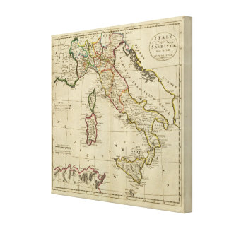 Italy and Sardinia Stretched Canvas Prints