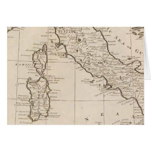 Italy, and Sardinia Greeting Card