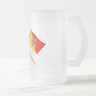 Italy and Sicilia crossed flags Mug