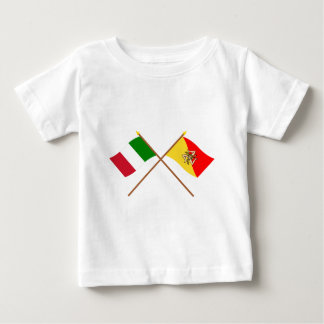 Italy and Sicilia crossed flags T Shirt