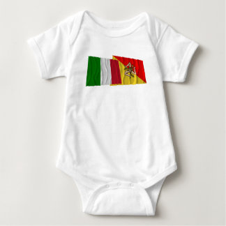 Italy and Sicilia waving flags T Shirt