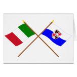 Italy and Trentino-Alto Adige crossed flags Greeting Card