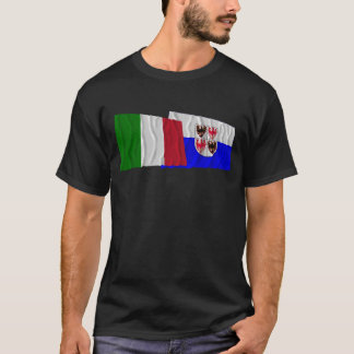 Italy and Trentino-Alto Adige waving flags T-Shirt