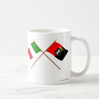 Italy and Valle d'Aosta crossed flags Classic White Coffee Mug