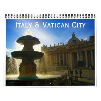 italy and vatican city 2018 calendar