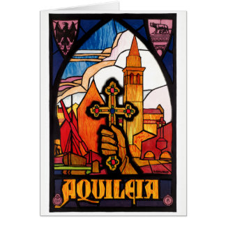 Italy Aquileia Restored Vintage Travel Poster Card