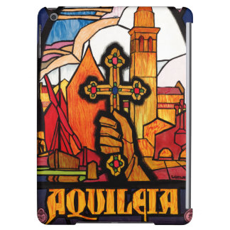Italy Aquileia Restored Vintage Travel Poster iPad Air Cover