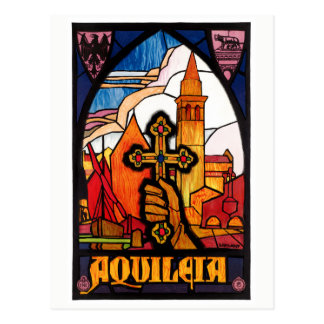 Italy Aquileia Restored Vintage Travel Poster Postcard