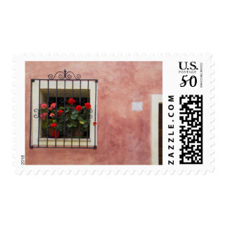 Italy, Asciano, Window Boxes with Fresh Spring Postage