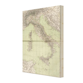 Italy Atlas Map Canvas Print