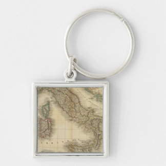 Italy Atlas Map Keychain