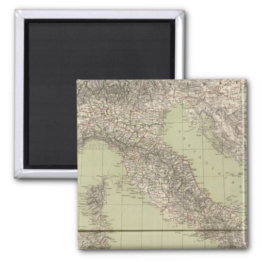 Italy Atlas Map Magnet