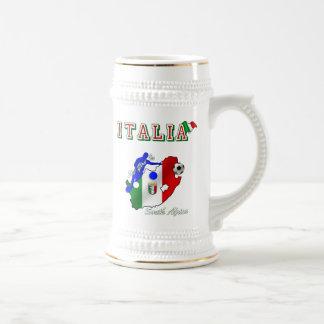 Italy Azzurri in South Africa soccer fans gear Beer Stein