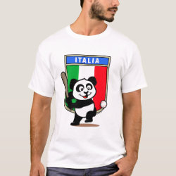 Men's Basic T-Shirt with Italy Baseball Panda design