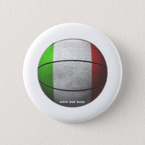 Italy Basketball Pinback Button