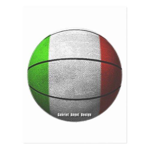 Italy Basketball Postcard