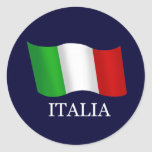 Italy Best seller wavy flag for Italians Stickers
