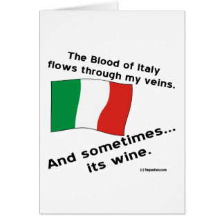 Italy Blood Wine Card