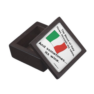 Italy Blood Wine Keepsake Box