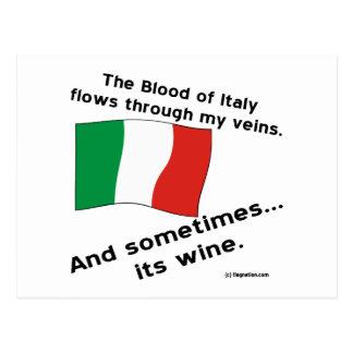 Italy Blood Wine Postcard