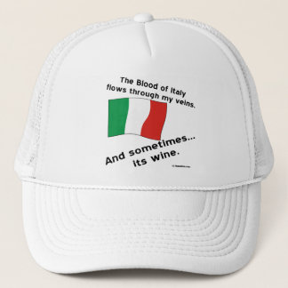 Italy Blood Wine Trucker Hat