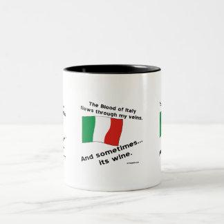 Italy Blood Wine Two-Tone Coffee Mug