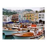 Italy,   Boat terminus,  Capri Postcard