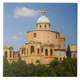Italy, Bologna, Sunny Day with Portico di San Ceramic Tile