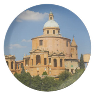Italy, Bologna, Sunny Day with Portico di San Dinner Plate