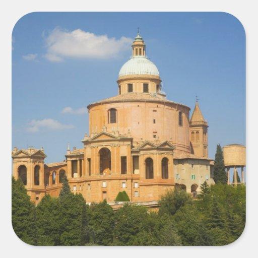 Italy, Bologna, Sunny Day with Portico di San Square Sticker