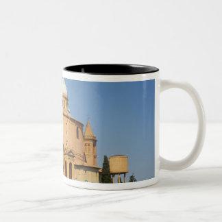 Italy, Bologna, Sunny Day with Portico di San Two-Tone Coffee Mug