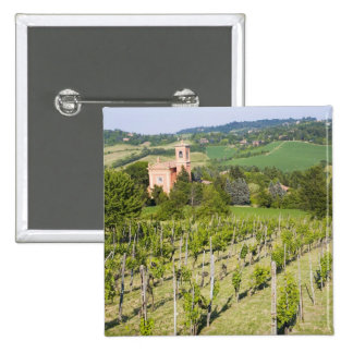 Italy, Bologna, View through Vineyard to Chiesa Pinback Button