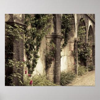 Italy, Brescia Province, Gardone Riviera. Garden Poster
