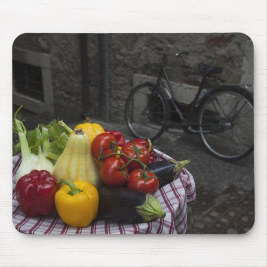 Italy, Brescia Province, Gargnano. Table with 2 Mouse Pad