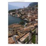 Italy, Brescia Province, Limone sul Garda. Town Greeting Cards