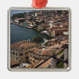 Italy, Brescia Province, Limone sul Garda. Town Metal Ornament