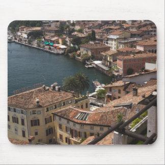 Italy, Brescia Province, Limone sul Garda. Town Mouse Pad