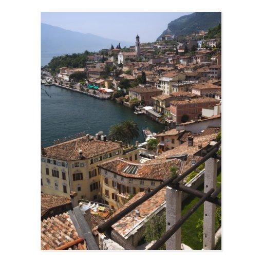 Italy, Brescia Province, Limone sul Garda. Town Post Card