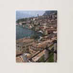Italy, Brescia Province, Limone sul Garda. Town Puzzle
