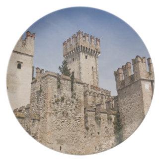 Italy, Brescia Province, Sirmione. Castello 2 Melamine Plate