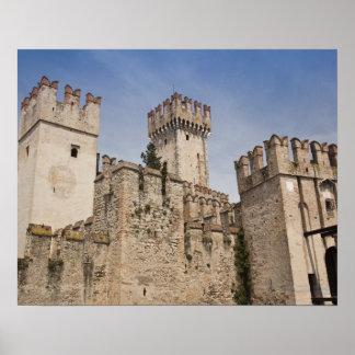 Italy, Brescia Province, Sirmione. Castello 2 Poster