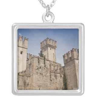 Italy, Brescia Province, Sirmione. Castello 2 Square Pendant Necklace