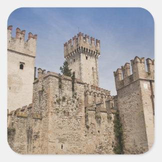 Italy, Brescia Province, Sirmione. Castello 2 Square Sticker