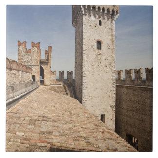 Italy, Brescia Province, Sirmione. Castello 4 Ceramic Tile