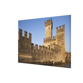 Italy, Brescia Province, Sirmione. Castello Canvas Print
