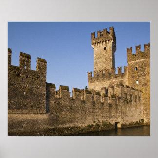 Italy, Brescia Province, Sirmione. Castello Poster
