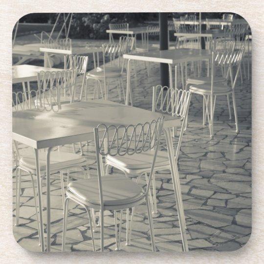 Italy, Brescia Province, Sirmione. Lakeside cafe Beverage Coaster