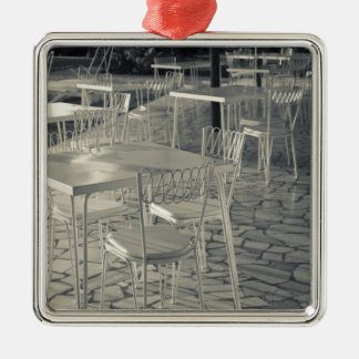 Italy, Brescia Province, Sirmione. Lakeside cafe Metal Ornament