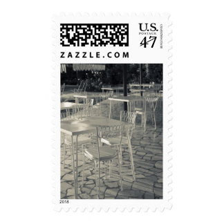 Italy, Brescia Province, Sirmione. Lakeside cafe Stamp