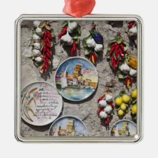 Italy, Brescia Province, Sirmione. Souvenirs. Metal Ornament